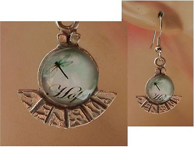 Dragonfly Earrings Silver Charm Drop Dangle Handmade Jewelry Hope Women Ear