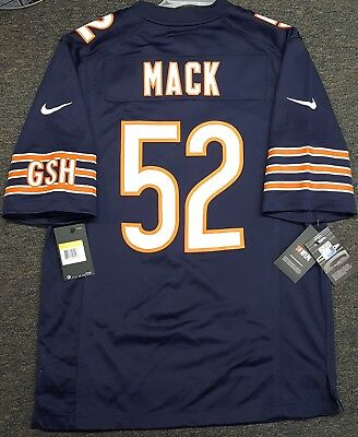 reputable site 097a7 73715 NEW KHALIL MACK #52 Chicago Bears Nike Jersey Mens XL ...