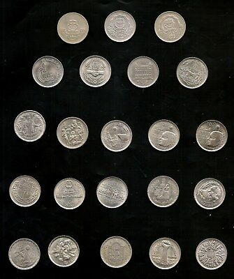 Egypt  COINS LOT SET COMMERATIVE 10 PIASTRES  22 PIECES 1970 -1981 high grades