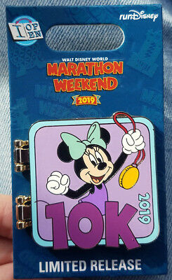 Pin Run WDW Walt Disney World Marathon Weekend Minnie Mouse LR 2019 I Did It 10K