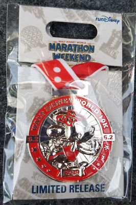 Pin Run WDW Walt Disney World Marathon Weekend Minnie Mouse LR 2019 Medal 10K