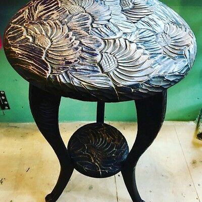 Liberty Of London Japanese Carved Side Table 1900