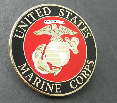 Us Marine Corps Usmc Marines Large Lapel Pin Badge 1.5 Inches