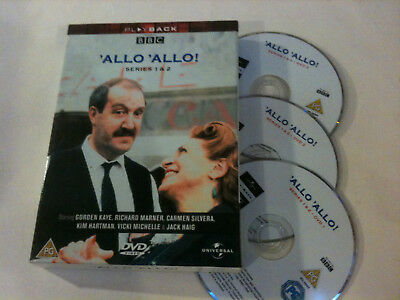 'ALLO 'ALLO' Series 1 & 2 Region 2 - 3 Disc DVD Box Set - Gordon Kaye, Jack Haig