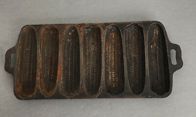 Vintage Cast Iron Ear Corn Bread Muffin Stick Pan - Unmarked