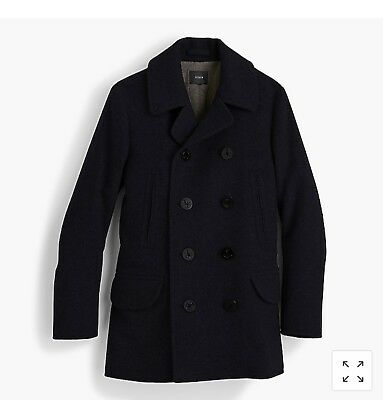 J.Crew Men's Dock Peacoat Thinsulate® - Navy Tall Large