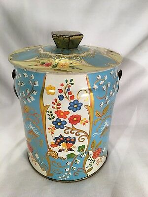 Vintage DAHER covered tin bucket - Made in England