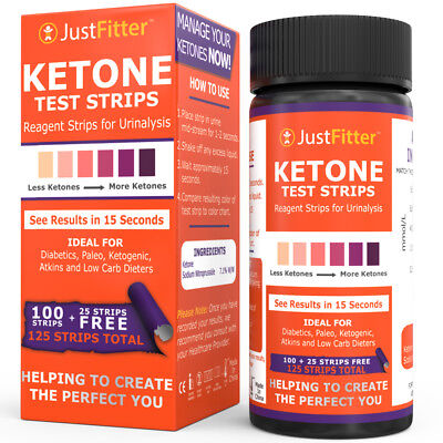 Ketone Test Strips|Urine Analysis|Paleo|Ketosis|Optifast|Keto sticks|Celiac|125