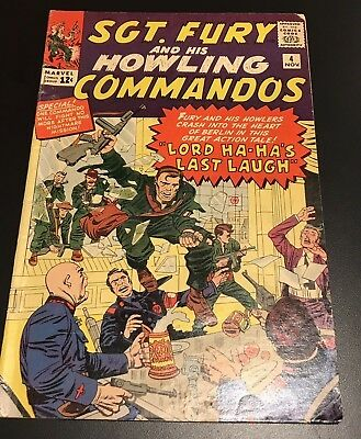 Marvel SGT. FURY and His HOWLING COMMANDOS No. 4 (1963) Kirby!