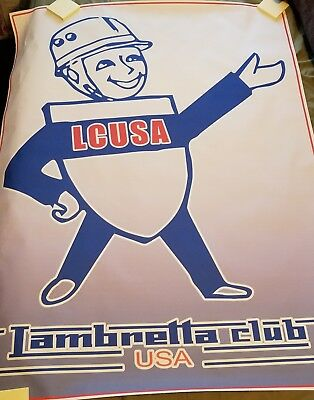 HUGE Lambretta LCUSA Scooter Cloth/Vinyl Poster - Vespa