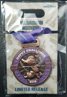 Pin Run WDW Walt Disney World Marathon Weekend Dopey Challenge LR NOC 2019 Medal