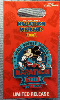 Pin Run WDW Walt Disney World Marathon Weekend Mickey Mouse LR NOC 2019 Logo MM