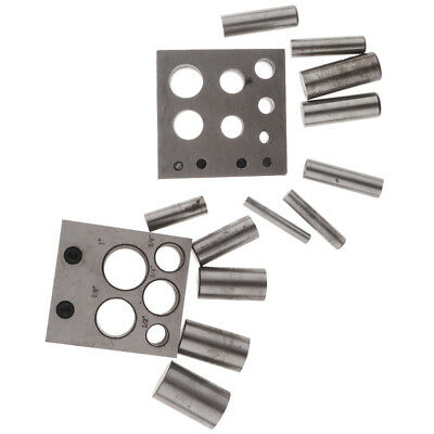 21 Piece Disc Cutter Set Round Convex Concave Jewellery Making Metal Tool J1178