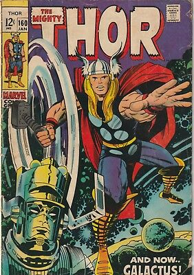 Mighty Thor #160 Galactus Silver Age Reading Copy Marvel