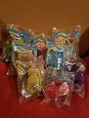 Burger King 1999 and McDonald's 2000 Teletubbies Misc Lot of 8.