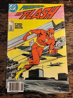 THE NEW FLASH #1 RARE NEWSSTAND VARIANT (DC, 1987) Free Combine Shipping