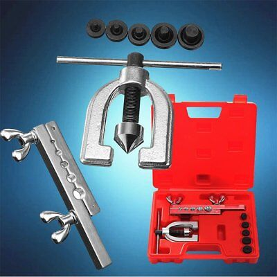 Double Pipe Flaring Brake Line Tool Clamp Spreader Dies Tubing Car Truck Tool TO