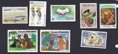 Grenada & Grenadines pictured incl. LADY and the TRAMP - guides - flower - bird