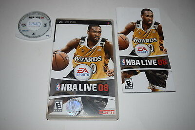 NBA Live 2008 Sony Playstation PSP Video Game Complete