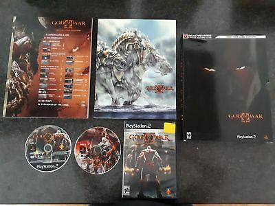 God of War II Limited Edition Collector's Guide w/ Game (Playstation 2 PS2)