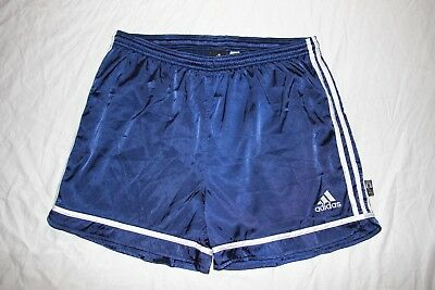 Men's Small Adidas ClimaLite 100% poly navy blue/white running shorts- EUC!