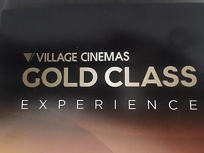 Village Cinemas Gold Class Experience Card ... Exp 25/7/19 Value $159