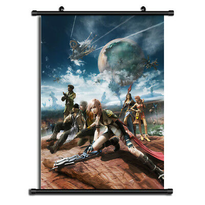 final fantasy xiv Anime Canvas Print Wall Poster Scroll Home Decor Cosplay A