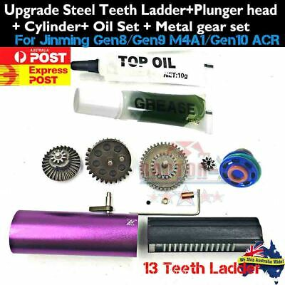 Upgrade Gearbox Ladder Head Cylinder Oil Metal Gears For Jinming Gen8 9 M4A1 ACR