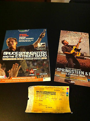 BRUCE SPRINGSTEEN lot biglietto concert ticket ITALY 13 + flyer map & film movie
