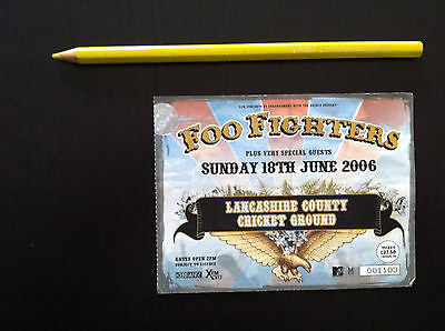 FOO FIGHTERS Biglietto Ticket concert used MANCHESTER 2006 Dave Grohl (Nirvana)