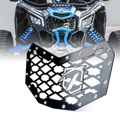 2017 2018 Can-Am Maverick X3 UTV Black Steel Mesh Grille with Badge