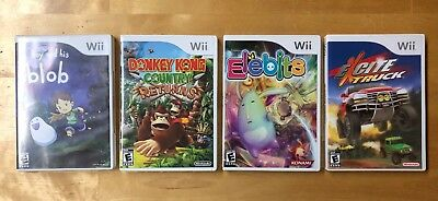 Lot of 4 Nintendo Wii games! Donkey Kong Country, Excite Truck, and more!