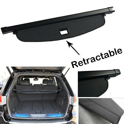 Black Retractable Cargo Cover Trunk Blind Shade For2011-2019 Jeep Grand Cherokee