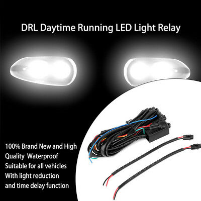 DRL Controller auto LED Daytime Running Light relè Dimmer interruttore 30W 12V