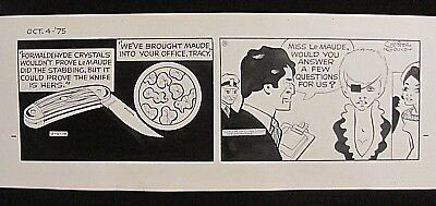 Dick Tracy Original Comic Strip Art