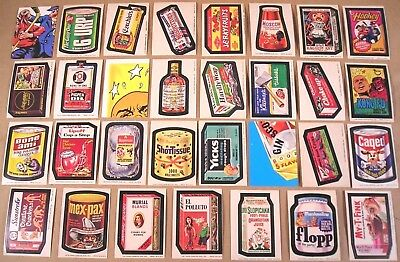 1974 Wacky Packages 7th/8th/9th Series LOT OF 28 STICKERS & 3 CHECKLISTS NR