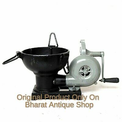 Forge Furnace With Hand Blower Pedal Type Handle Useful Collectible