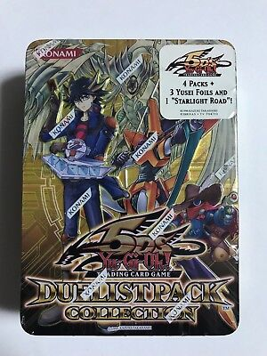 Yu-Gi-Oh Duelist Pack Collection Tin 2010 Yusei Yellow (English) Factory Sealed