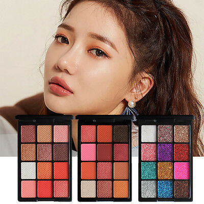 Shimmer Glitter EyeShadow Powder Palette Matte Eyeshadow Cosmetic Makeup 12Color