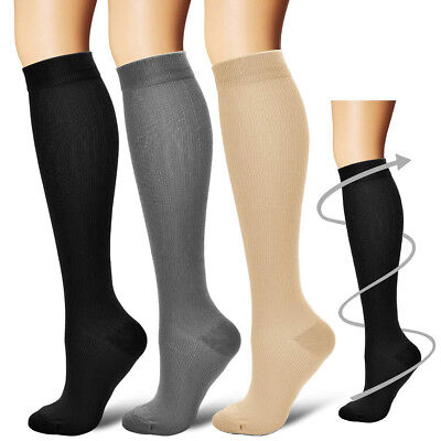 Women's Men's Compression Socks Running Medical 15-20 mmHG! 3 COLORS! BEST SOCKS