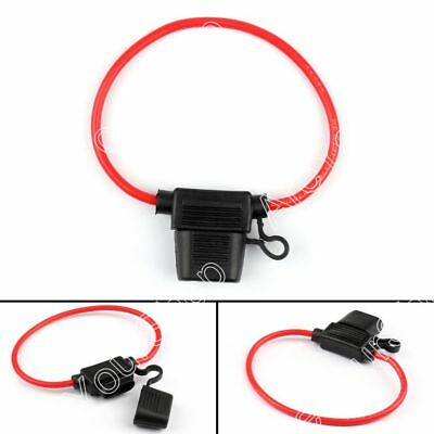 4Pcs Mini Blade Fuse Holder Waterproof 12AWG In-Line Wire Cable For Car/Boat A1