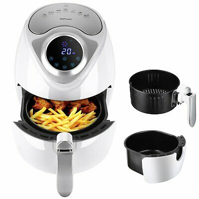 Heißluftfritteuse 2,6 L Touch-Display Fritteuse Heißluft Frittieren Crispy Fryer