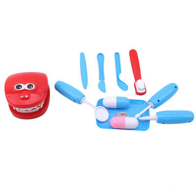 11pcs Child Pretend Play Toy Dentist Check Teeth Toys Baby Early Education Toys
