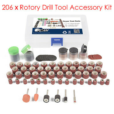 206Pcs Grinding Sanding Polishing Rotary Tool Wheel Accessory Kit Set For Dremel