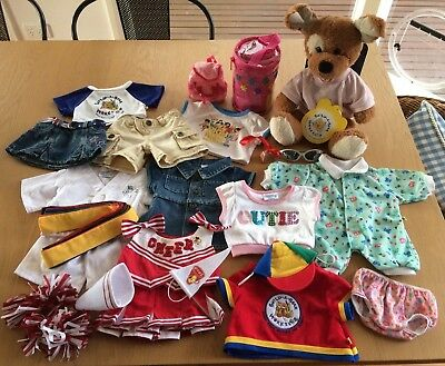 Build-A-Bear Bundle - Plush Dog & over 10 outfits & accessories - like new!