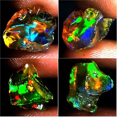 100% Natural SUPER EXCELLENT Multi Color Flashing Ethiopian Opal Welo Rough AC97