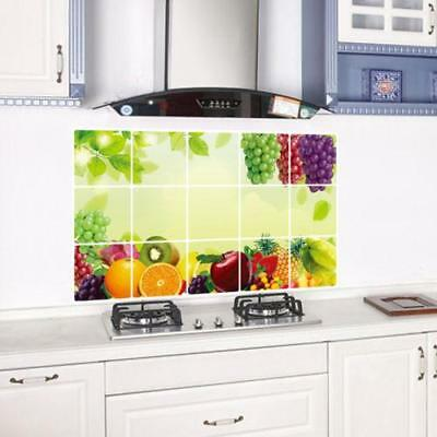 Removable Grape Fruits Oilproof Wall Stickers Vinyl Decor Dining Room Kitchen MA
