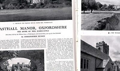 1945 COUNTRY LIFE Magazine ASTHALL MANOR OXON Vera Ellie Whigham Hurt (8252)