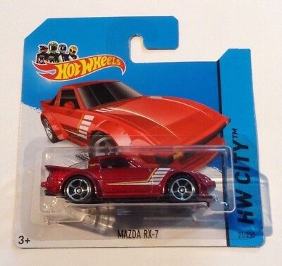 Hot Wheels Mazda Rx 7 Hw City 2014 Vhtf