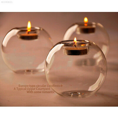 840E BB73 Style HANGING GLASS BAUBLE SPHERE BALL CANDLE TEA LIGHT HOLDER VASE.